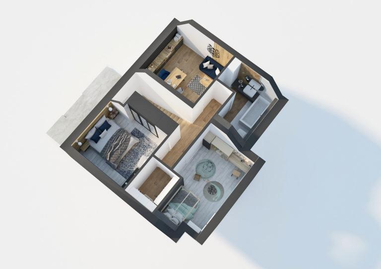 Dom w Gunnerach - rzut piętra