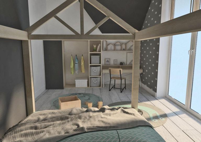 Dom w Gunnerach - pokój dziecka